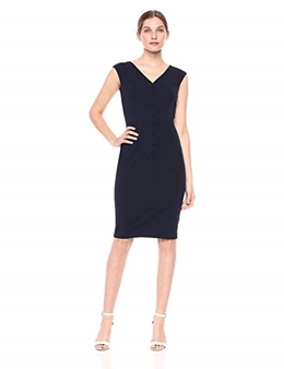 Picture of Calvin Klein Sleeveless Button Down Work Dress