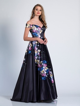 Picture of Dave and Johnny Floral Ball Gown