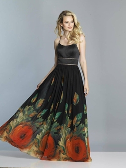 Picture of Black Floral Dress