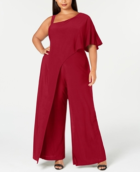 Picture of Plus Size One Shoulder Romper